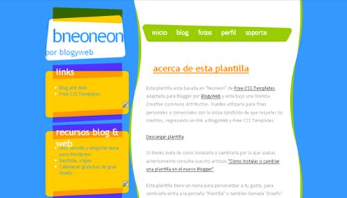 neoneon-xml-blogger-template