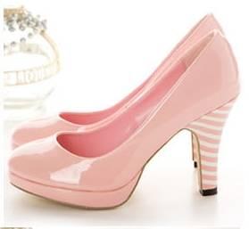 japon style candy girl pudra pembesi pudra rengi pump topuklu ayakkabı