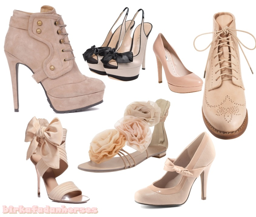 pudra rengi pembe ayakkabılar
