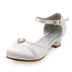 kısa topuklu gelin ayakkabıları
