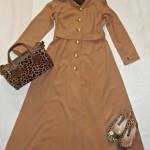 leopar desenli kapalı kıyafetler kombin
