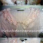 gül pembe yakası dantel detaylı romantik bolero