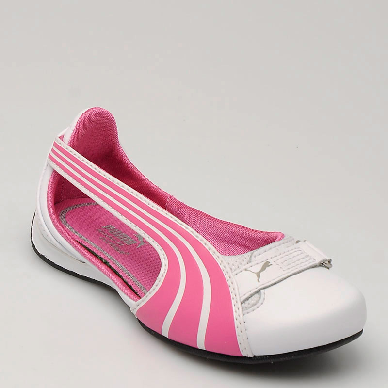 Puma Espera Çocuk Ayakkabısı Beyaz Pembe