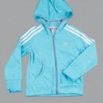 adidas turkuaz kalpli kız çocuk ceketi