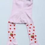 halley çilekli pembe külotlu bebek çorabı