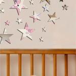 kızımın odası için yıldızlı duvar sticker