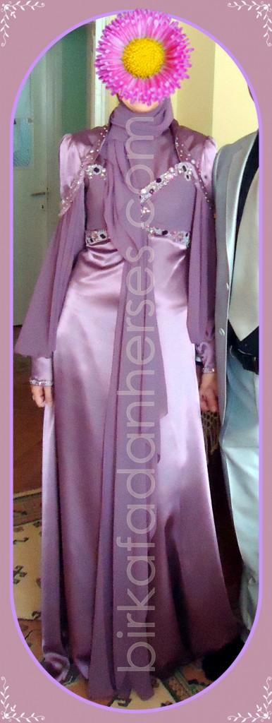 tekbir tesettürlü abiye elbise