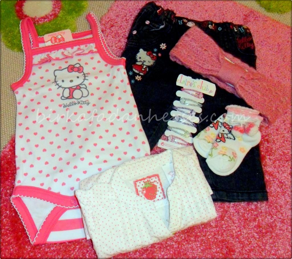 hello kittyli bebek kıyafetleri