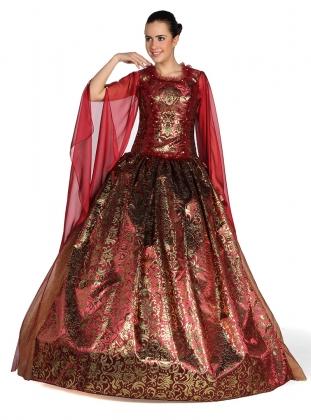 muhteşem yüzyıl bordo dore kına kıyafeti