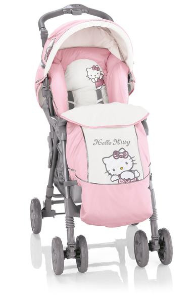 hello kitty desenli bebek arabası