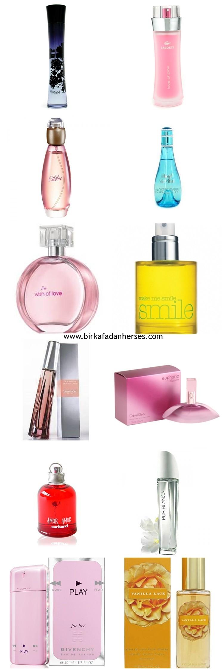 yazin en sevilen bayan parfümleri