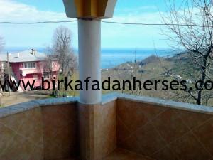 konakladığımız yerin balkonundan tepeköy manzarası