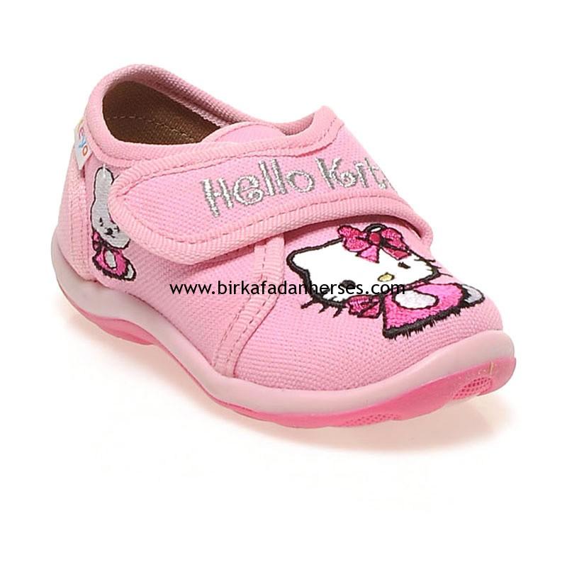 Ceyo Kids Hello Kitty pembe bebek ayakkabısı