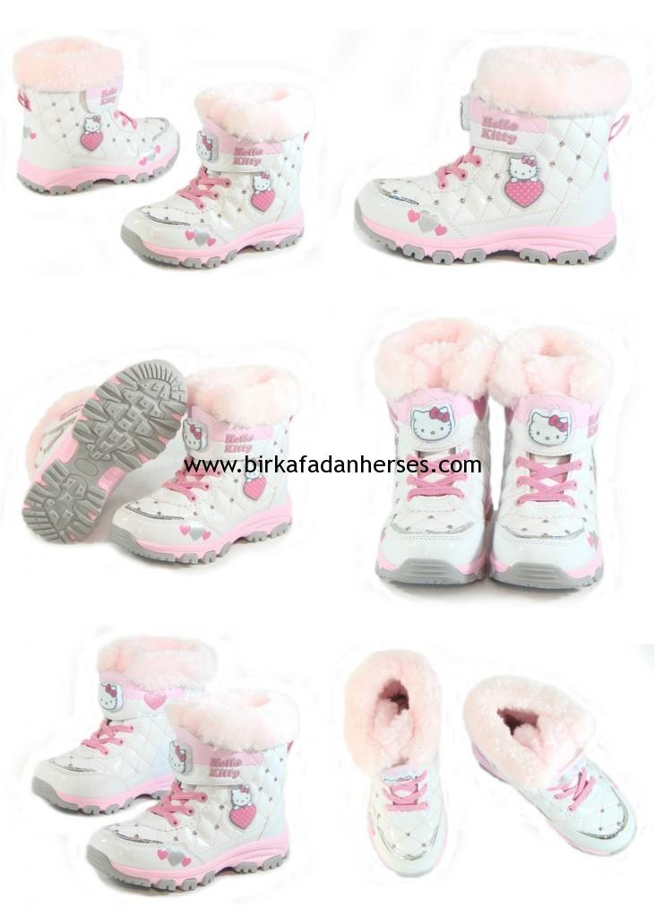 Hello Kitty ışıklı kız bebek botu