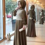Pınar Şems 2014 dantelli abiye tesettür elbise 445 lira