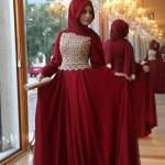 Pınar Şems bordo abiye elbise 445 gayme