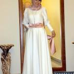 Pınar Şems ekru pudra abiye elbise fiyatı 185 lira