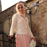 Pınar Şems ekru somon kombin elbise fiyatı 395 lira