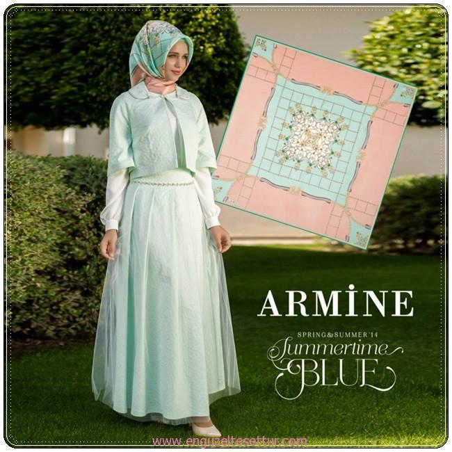 2014 yaz tesettür modası armine elbiseler