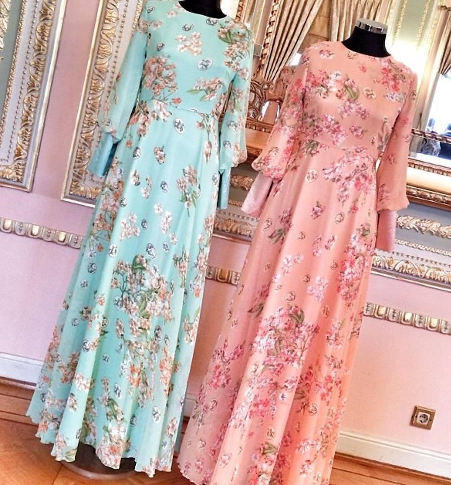 2014 yaz tesettür modası elbiseler