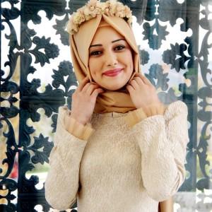 Gamze Polat 2015 tesettür nişan elbiseleri