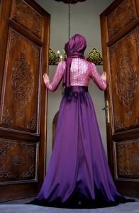 Gamze Polat 2015 tesettür nişan kıyafetleri