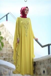 setrms abiye 002 2015 Uzun Kollu Kapalı Tesettür Mezuniyet Elbiseleri