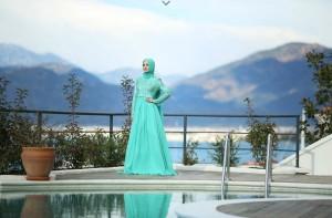 setrms abiye 003 2015 Uzun Kollu Kapalı Tesettür Mezuniyet Elbiseleri