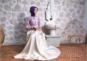 setrms abiye 005 2015 Uzun Kollu Kapalı Tesettür Mezuniyet Elbiseleri