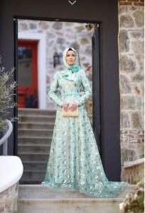 setrms abiye 006 2015 Uzun Kollu Kapalı Tesettür Mezuniyet Elbiseleri