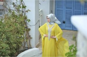 setrms abiye 007 2015 Uzun Kollu Kapalı Tesettür Mezuniyet Elbiseleri