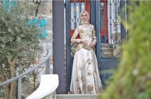 setrms abiye 010 2015 Uzun Kollu Kapalı Tesettür Mezuniyet Elbiseleri