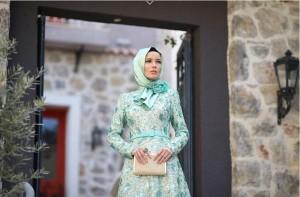 setrms abiye 012 2015 Uzun Kollu Kapalı Tesettür Mezuniyet Elbiseleri