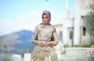 setrms abiye 018 2015 Uzun Kollu Kapalı Tesettür Mezuniyet Elbiseleri