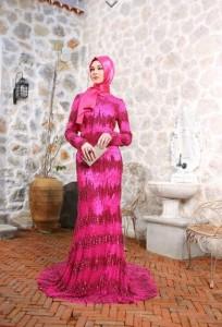 setrms abiye 021 2015 Uzun Kollu Kapalı Tesettür Mezuniyet Elbiseleri