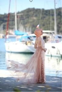 setrms abiye 027 2015 Uzun Kollu Kapalı Tesettür Mezuniyet Elbiseleri