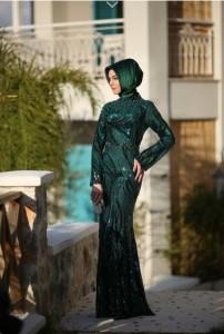 setrms abiye 029 2015 Uzun Kollu Kapalı Tesettür Mezuniyet Elbiseleri