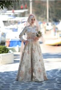 setrms abiye 032 2015 Uzun Kollu Kapalı Tesettür Mezuniyet Elbiseleri