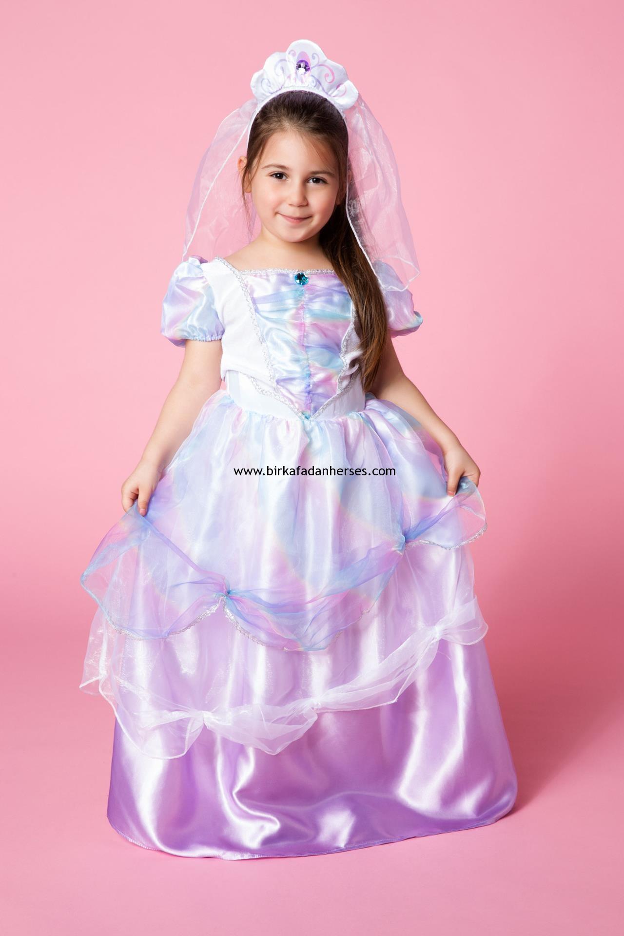kız çocukları için kabarık prenses elbiseleri