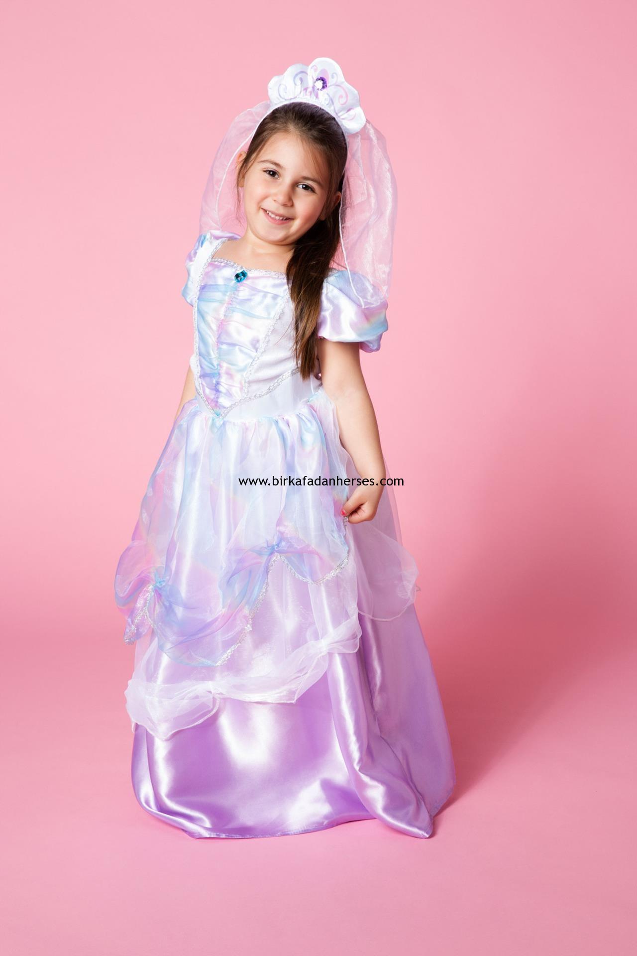 kız çocuk prenses elbisesi