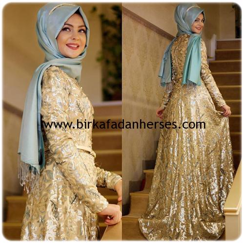 pınar şems tasarımı abiyeler mint yeşili altın rengi Esra abiye 2016