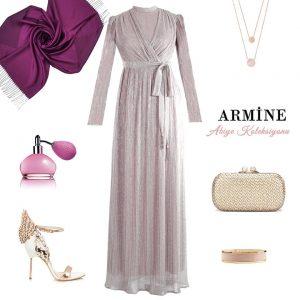 Armine anvelop abiye elbise 2018 kış
