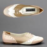 pudra oxford ayakkabı