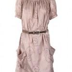 pudra rengi elbise tunik