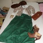 yeşil etekli kombin kapalılar için kıyafetler