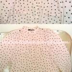 koton apoletli yıldızlı pudra şifon gömlek