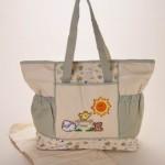 güneşli kalpli bebek bakım çantası