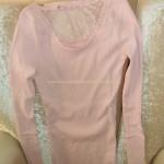 koton ole homewear sırtı yakası dantelli pembe bluz