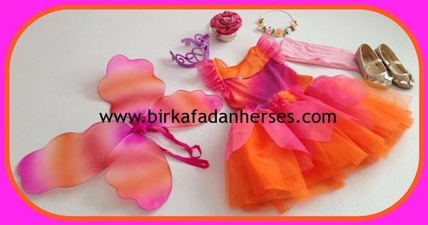 özel günler için kız çocuk elbise kombinleri